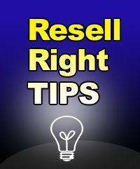 FREE SFW Resell Right Power Seller Tips