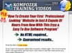 Kompozer Training Videos